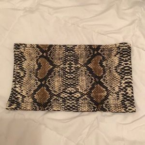 Other - Snake Skin Bandeau Bra Tube Top Small